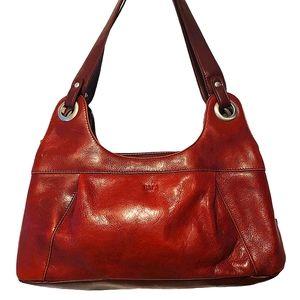 BACI Bordeaux leather tot/shoulder bag